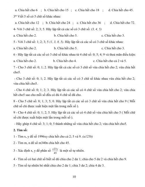 Bồi dưỡng học sinh giỏi toán lớp 4