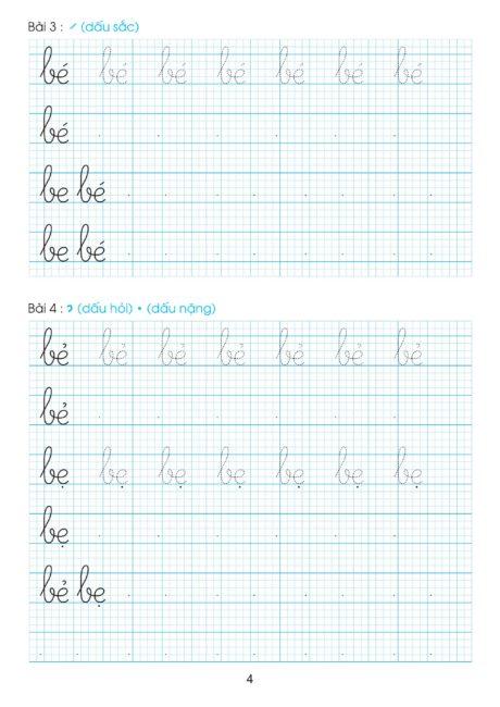 Bài luyện viết chữ đẹp cho học sinh lớp 1