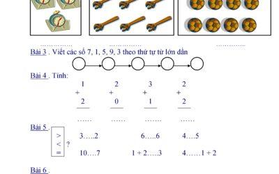 kiểm tra giữa kỳ toán lớp 1