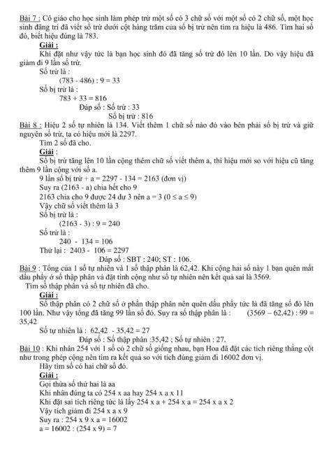 các chuyên đề toán 4 + 5