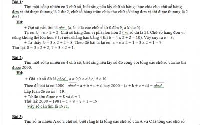bài toán học sinh giỏi