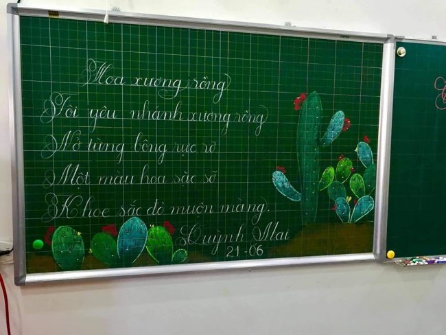 trang trí bảng