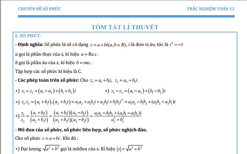 Bài tập số phức khó