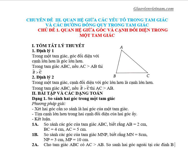 toán hình học lớp 7