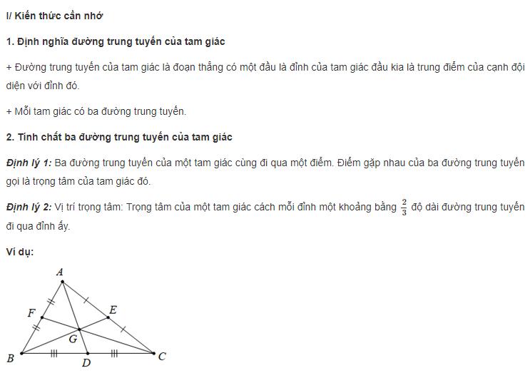 Trọng tâm tam giác