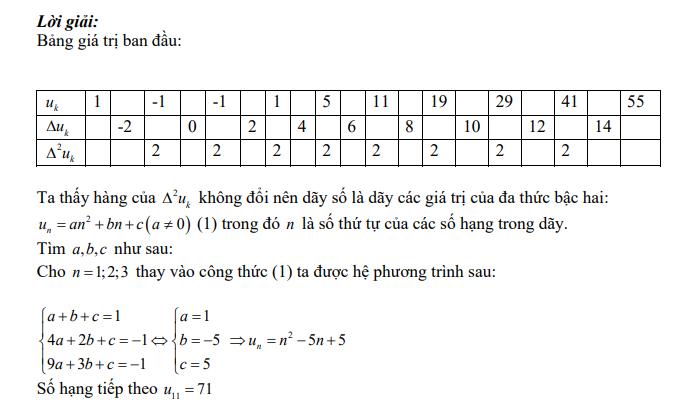Tìm công thức tổng quát của dãy số