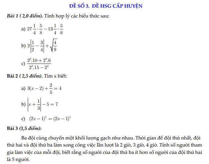 đề thi hsg toán 7 cấp huyện